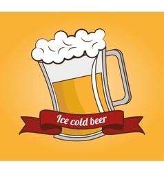 cartoon ice cool beer design design vector image