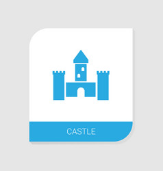 castle icon white background vector image