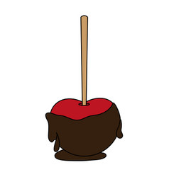 Chocolate apple icon image vector