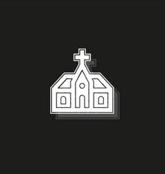 church building church architecture icon vector image