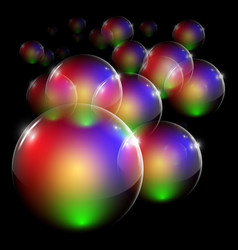 colorful clear bubble vector image