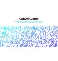 Coronavirus art concept vector