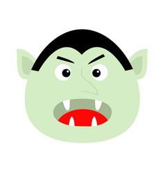 count dracula head face cute cartoon kawaii vector image