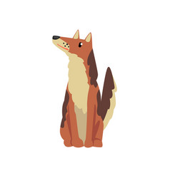cute dog funny pet character furry human friend vector image