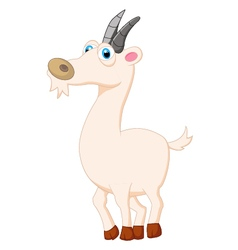 Cute goat posing cartoon vector