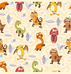Dinosaurs seamless pattern for kids creative vector