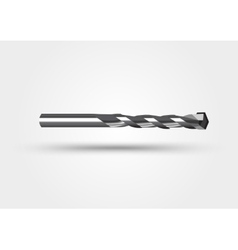 Drill bit isolated on a white background vector