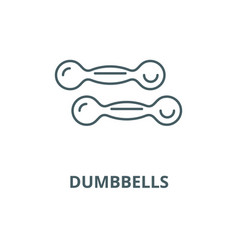 dumbbells line icon linear concept vector image