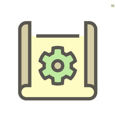 engineering drawing concept icon design on vector image