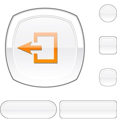 Exit white button vector