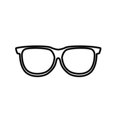 eye glass isolated icon vector image