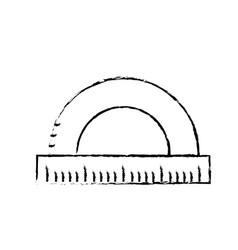 Figure measuring ruler school tool design vector