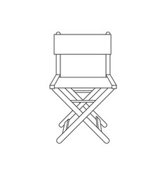 fishing chair vector image