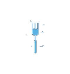 fork icon design vector image