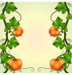 Frame of pumpkins vector