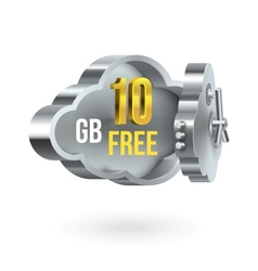 Free cloud storage promotion banner vector image