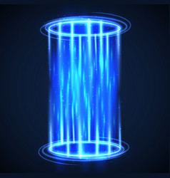 futuristic virtual hologram teleport hud digital vector image