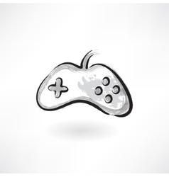 Gamepad grunge icon vector