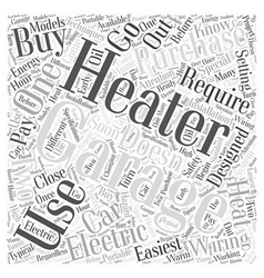 Garage heaters Word Cloud Concept vector