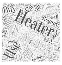 Garage heaters Word Cloud Concept vector