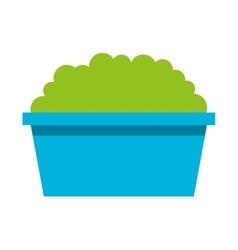 Garden pot with plant vector