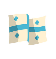Georgian flag with five blue crosses streaming in vector