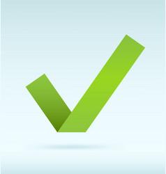 Green tick vector