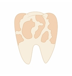 Illness tooth icon in cartoon style vector