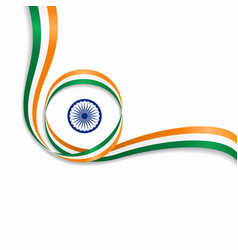 Indian wavy flag background vector