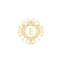 initial e wedding boutique logo designs vector image