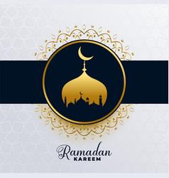 Islamic ramadan kareem golden mosque background vector