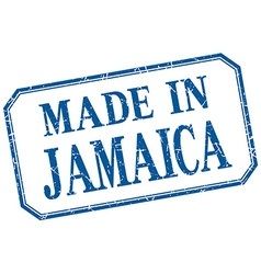 Jamaica - made in blue vintage isolated label vector