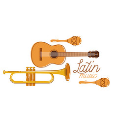 Latin music emblem or logo flat style isolated vector