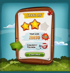 Level score board with bonus for game ui vector