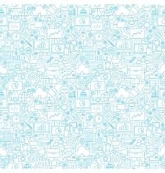 Line Development White Tile Pattern vector image