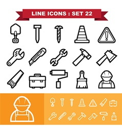 Line icons set 21 vector image