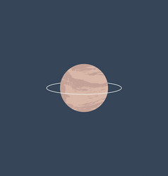 minimalistic saturn poster in pink marble vector image