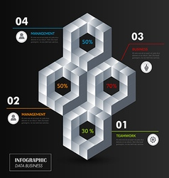 Modern Infographic design vector image