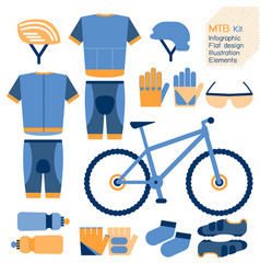 mountain bike kit infographic element vector image