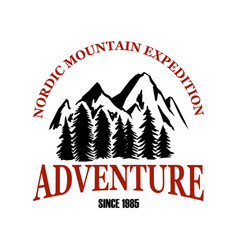 mountain camp emblem template design element for vector image