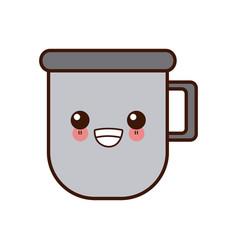 mug porcelain cup cute kawaii cartoon vector image