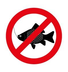 no fishing vector image