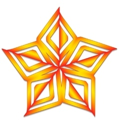 Orange star vector image