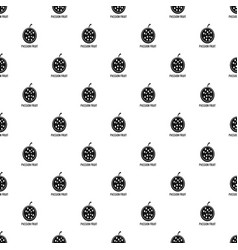 passion fruit pattern seamless vector image