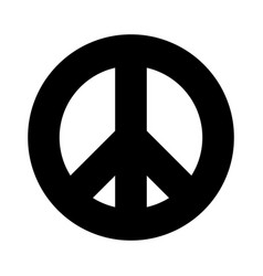 peace symbol simple flat icon black sign vector image