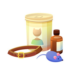 pet shop items collection vector image