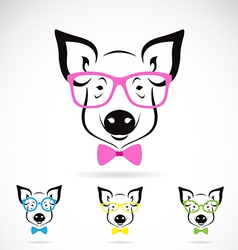 pig glasses vector image
