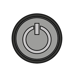 Power button start icon vector