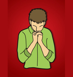 Prayer christian praying vector