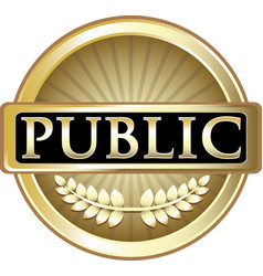 Public gold icon vector